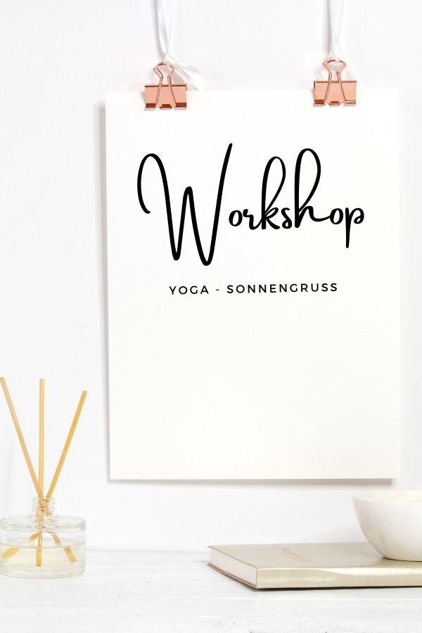 Workshop Sonnengruss - Yoga - Marie-Louise Wagner Solingen